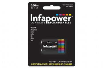 Infapower Rechargeable Ni-Mh Battery 9v 200mAh